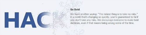 Facebook brand values: be bold