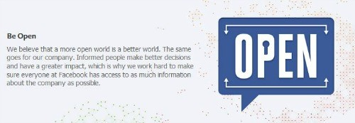 Facebook brand values: be open