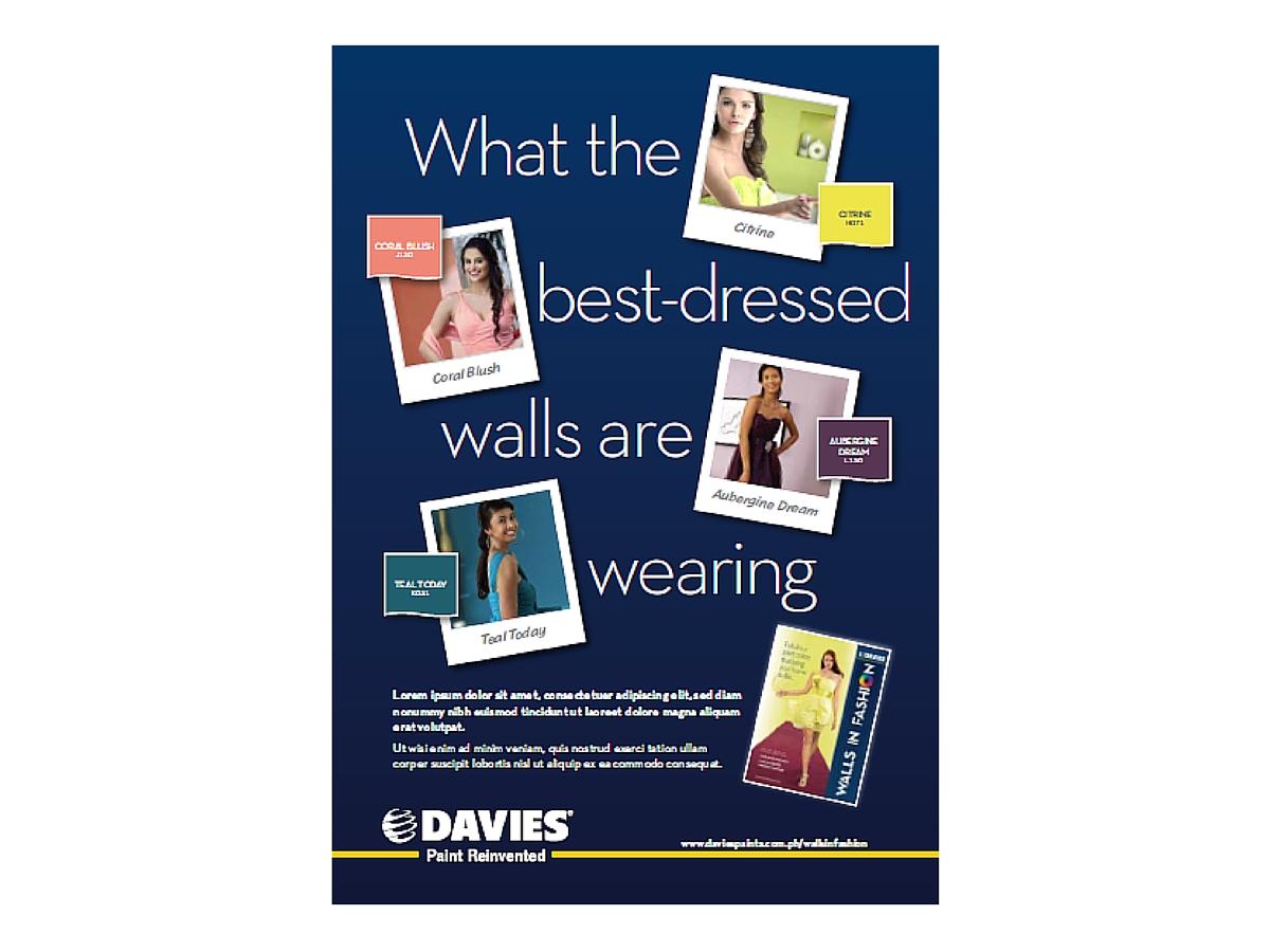 Walls in Fashion press ad