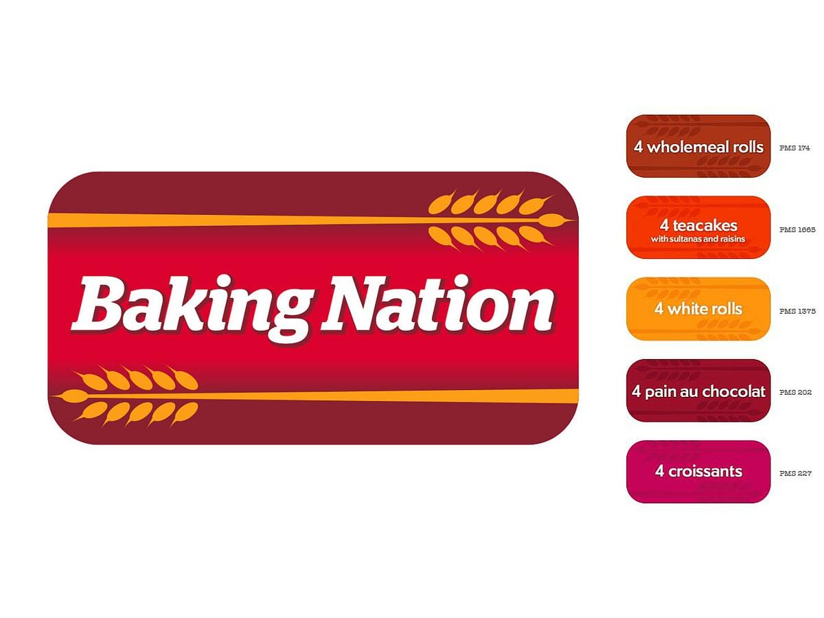 Baking Nation name, logo, product colours