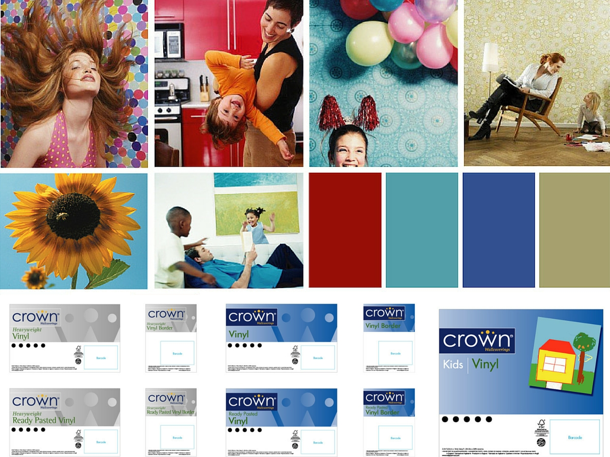 Crown mood board and labels
