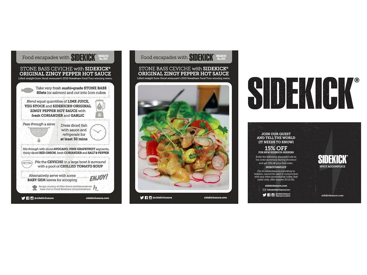 Sidekick sauce recipe card