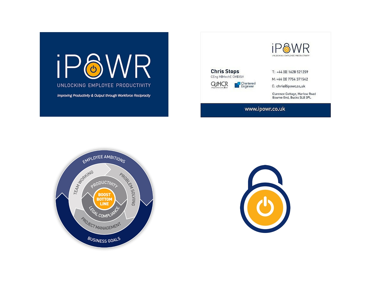 iPOWR icons and business card