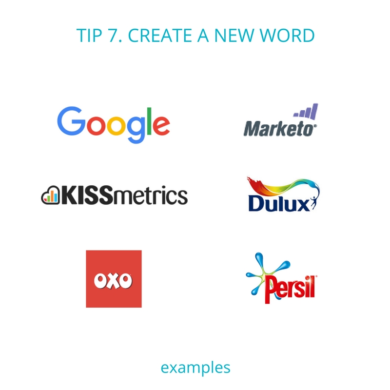 Business name tip 7 - create a new word