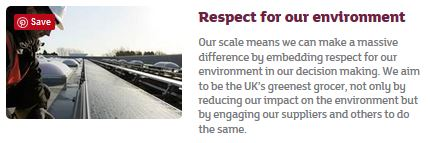Sainsbury brand values: respect for our environment