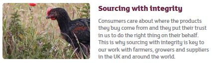 Sainsbury brand values: sourcing with integrity