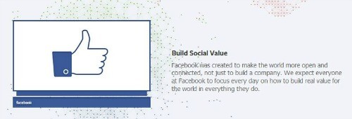 Facebook brand values: build social value