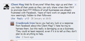 user frustration with Facebook