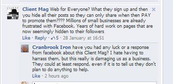 user frustration with Facebook