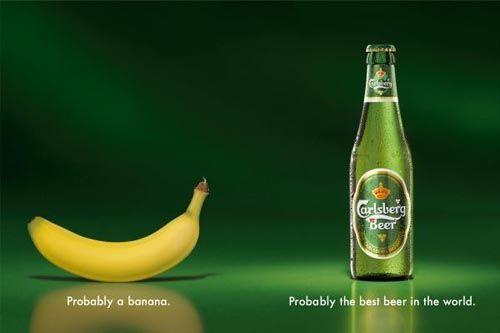 Carlsberg ad with brand strapline