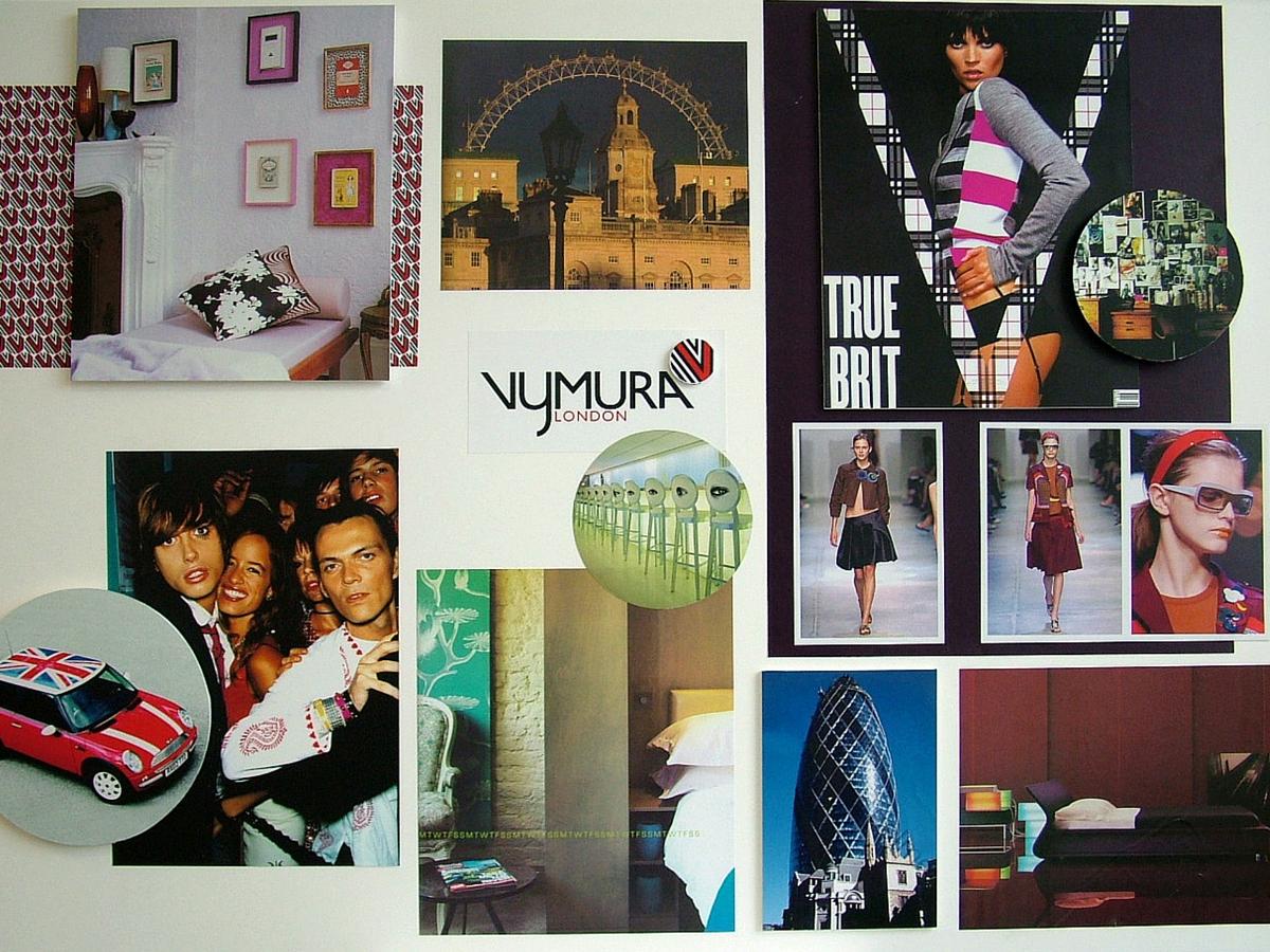 Vymura wallpaper brand mood board