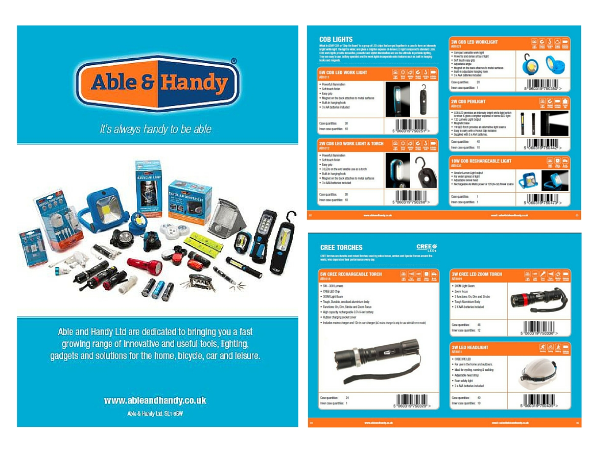 Able & Handy branding brochure
