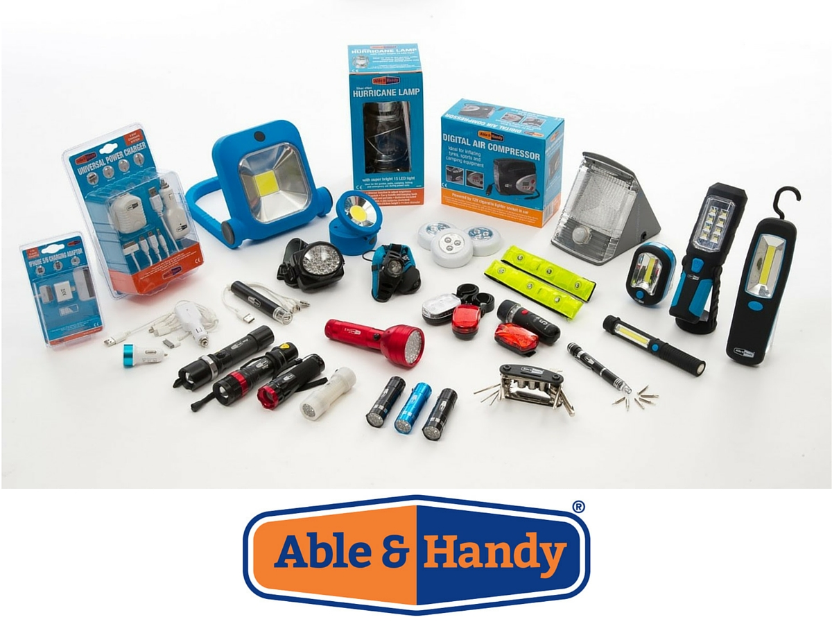 Able & Handy branding product range packaging