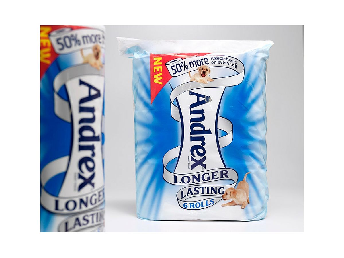 Andrex new packaging design
