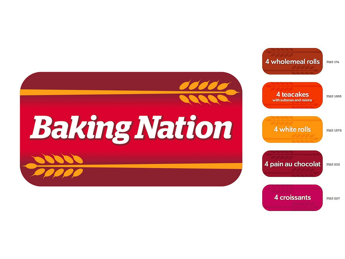 Baking Nation name, logo, product colours