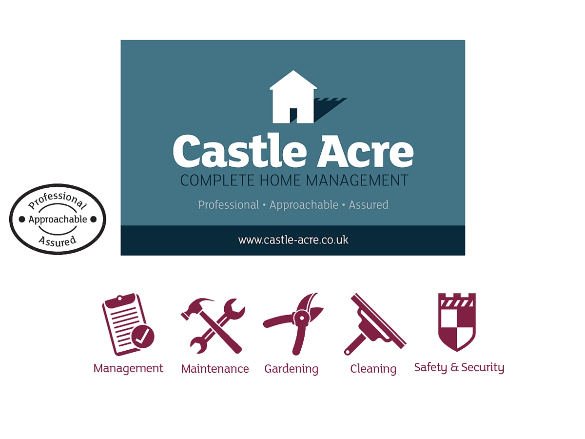 Castle Acre brand icons and business card