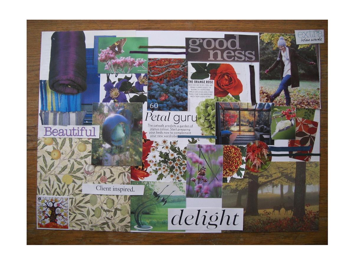 Helen Lowrie Garden Design brand mood board