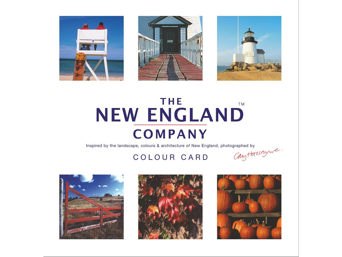 New England paint colour card