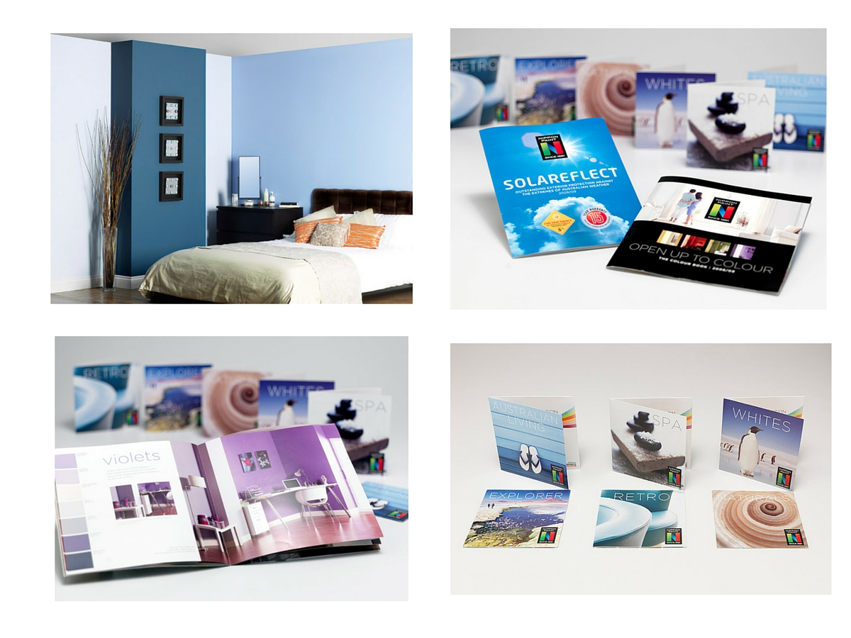 Nippon Paint colour cards and room sets