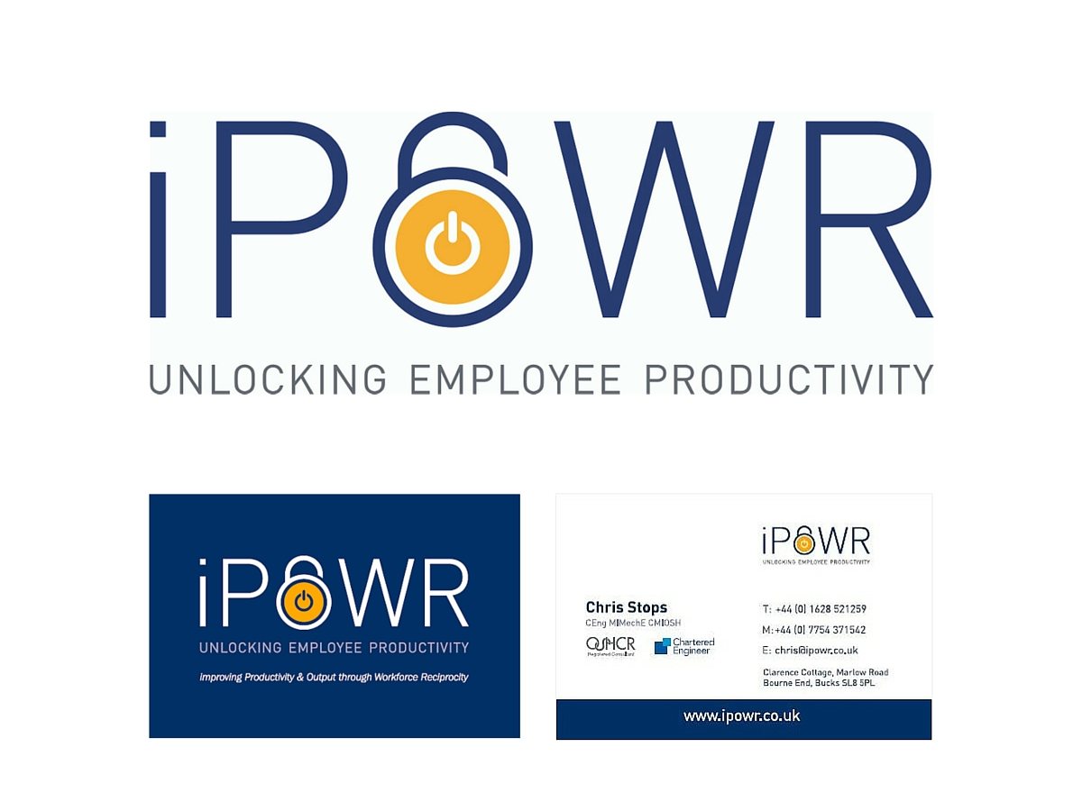 iPOWR brand logo and business card