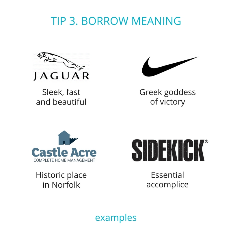 Business name tip 3 - borrow meaning