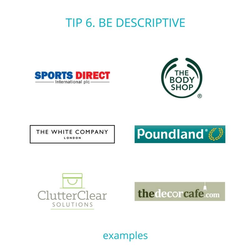 Business name tip 6 - be descriptive