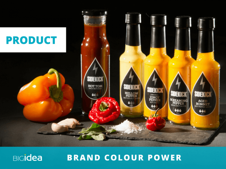 use colour to build your brand product range