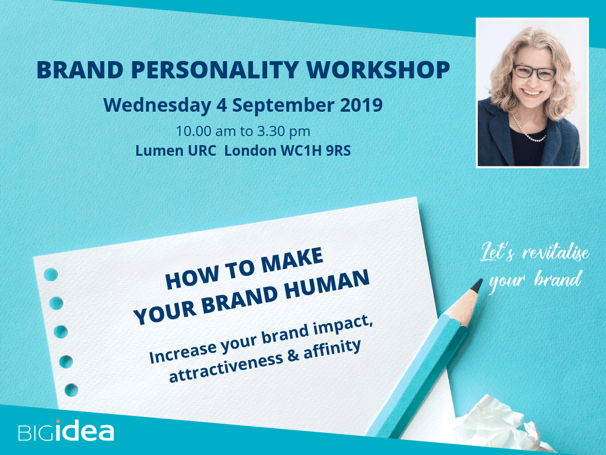 Brand Personality Workshop - how to make your brand human