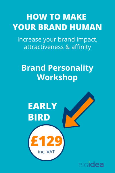 Brand Personality Workshop Early Bird £129